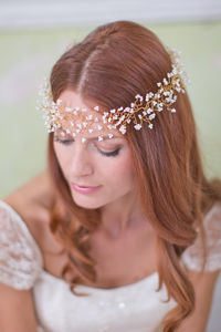 Gypsophila Pearl Garland - head pieces