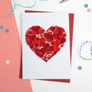 Romantic Hearts Valentines Card