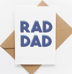 'Rad Dad' Father's Day Card - what's new
