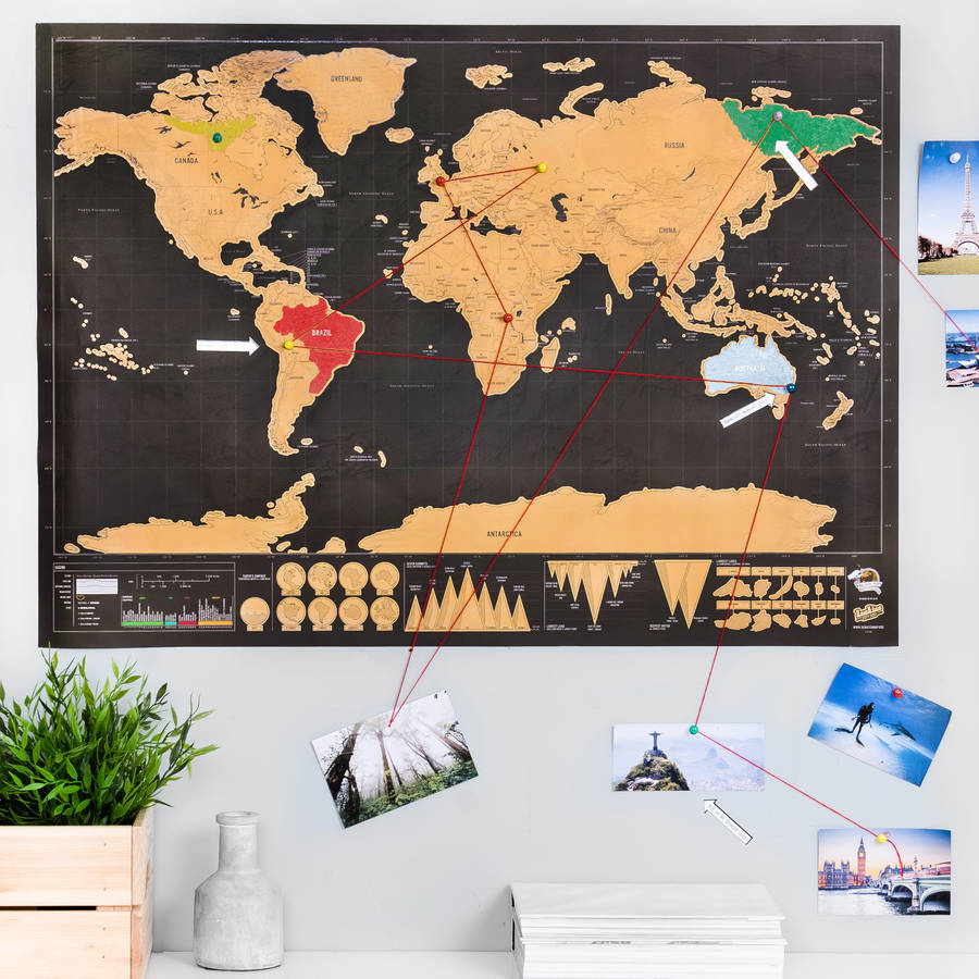 Puerto Rico Map World%0A Deluxe  u    Push Pin u     Scratch Off   World Map Bundle  posters