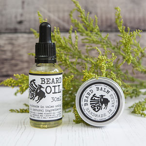 Premium Beard Oil And Balm Set