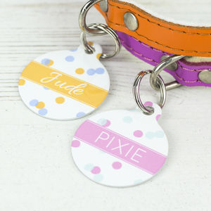 Personalised Confetti Pet Tag Bauble Shaped