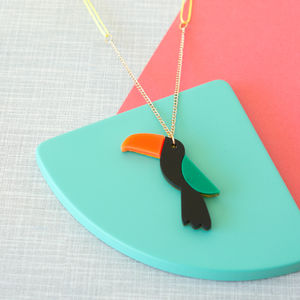 Acrylic Toucan Sweet Thing Necklace - children's accessories