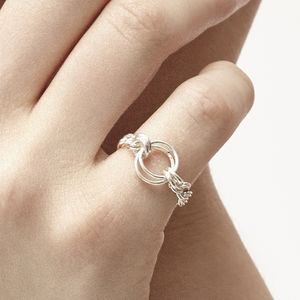 Lucy Lou Silver Chain Ring