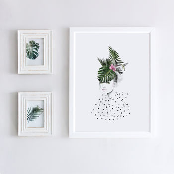 Botanical Art Print Illustration Portrait