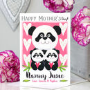 Personalised Panda Nan Mother's Day Card