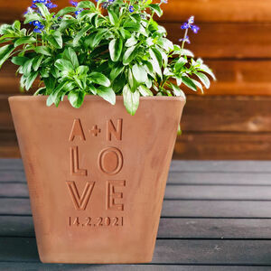 Personalised Engraved Love Plant Pot