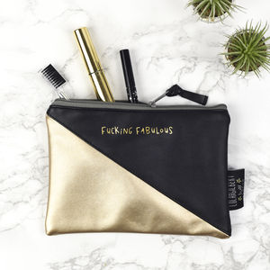 'Fabulous' Faux Leather Make Up Pouch - our favourite sale picks