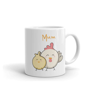 Cute Kawaii Mother Hen And Chick Mug