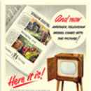 Retro 1950s English Electric Television Advert Print