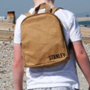 Sustainable Brown Paper Style Children's Backpack