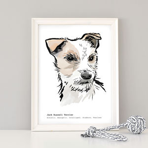 Personalised Jack Russell Art Print