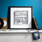 Personalised Record Shop Print - prints & art