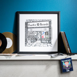 Personalised Record Shop Print - music