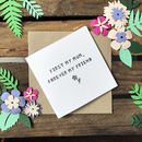 Mothers Day 'Forever My Friend' Paper Cut Card