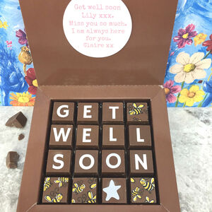 Personalised Get Well Soon Chocolate Box