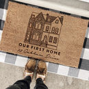 Personalised First House Door Mat