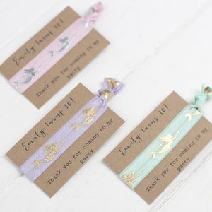 Mermaid Hair Tie Birthday Party Bag Fillers