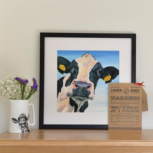 Personalised Wedding Cow Print - animals & wildlife