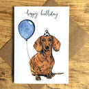 Daschund Dog Birthday Greetings Card