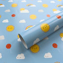 Five Sheets Of Kawaii Skies Wrapping Paper