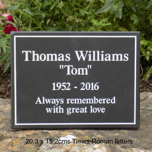Personalised Slate Memorial Plaque - signs
