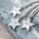 Run Silver Star Necklace