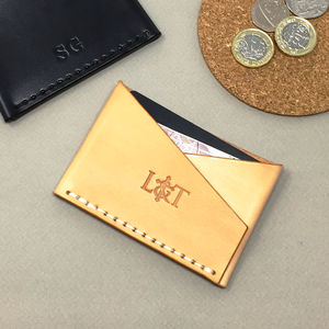 Personalised Leather Card Holder V2 - wallets & money clips