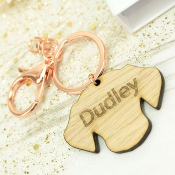 Personalised Engraved Pet Dog Keyring
