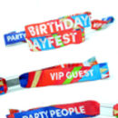 festival style birthday party wristbands
