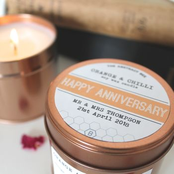 Happy Anniversary Personalised Candle
