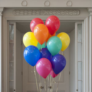 Pack Of 14 Rainbow Bright Party Balloons - outdoor decorations