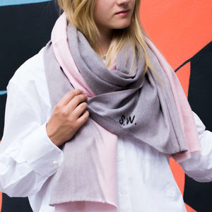 Personalised Cashmere Blend Ombre Scarf - for her