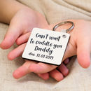 Personalised Ultrasound And Message Doublesided Keyring