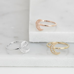 Crescent Moon Ring For Female Influence - rings