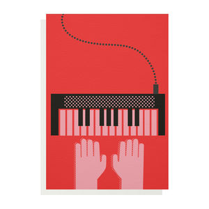 Keyboard Greetings Card