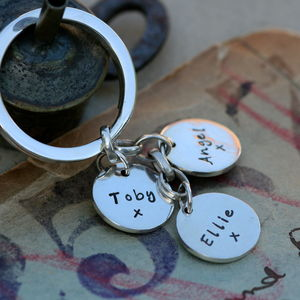Personalised Charm Keyring - metal keyrings