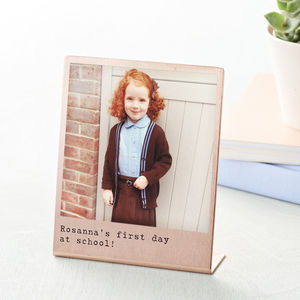 Personalised Back To School Solid Copper Polaroid Print
