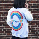 I'm Over It Women's Embroidered Slogan Varsity Jacket