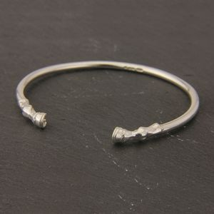 Horse Hooves Bangle In Sterling Silver - bracelets