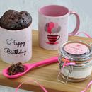 Spotty Dotty Pink Balloons Chocolate Mug Cake Kit