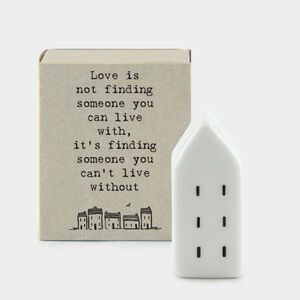 Love Is ..Porcelain Letterbox Gift
