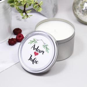 Christmas Tin Soya Wax Scented Candle For Couples