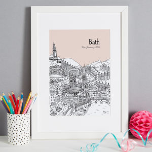 Personalised Bath Print - dates & special occasions