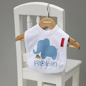 Baby Elephant Name Bib - baby & child