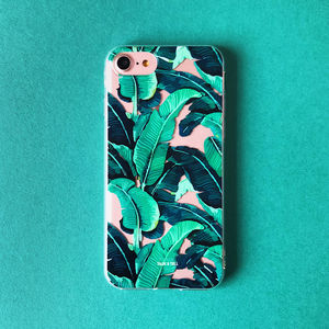Tropical Banana Leaf iPhone Case - phone covers & cases