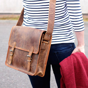 Leather Satchel Bag - bags & purses