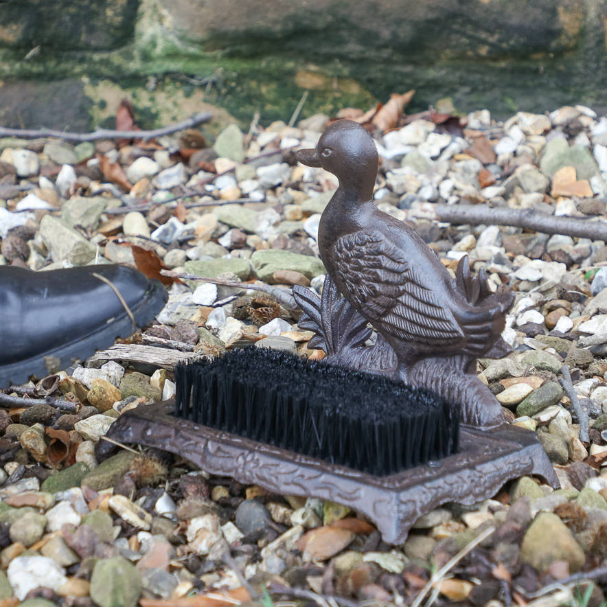 Cast Iron Duck Boot Brush