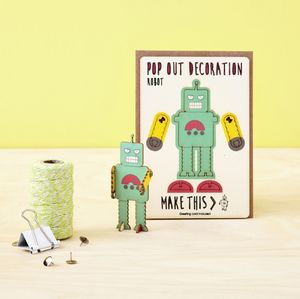 Pop Out Robot Greeting Card