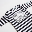 Organic Cotton 'Nine Months Inside' Baby Grow